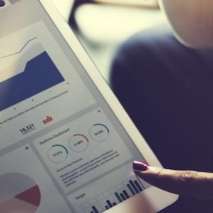 Business Team Brainstorming Data Target Financial Cocnept